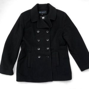 Kenneth Cole Reaction 100% Wool Peacoat - Black